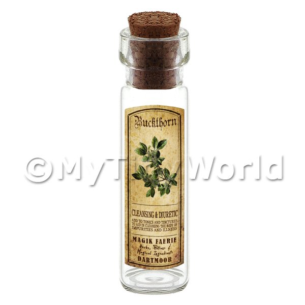 Dolls House Apothecary Buckthorn Herb Long Colour Label And Bottle
