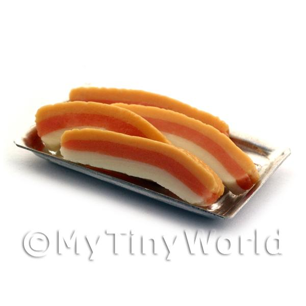 Dolls House Miniature Pork Belly Strips on a Tray