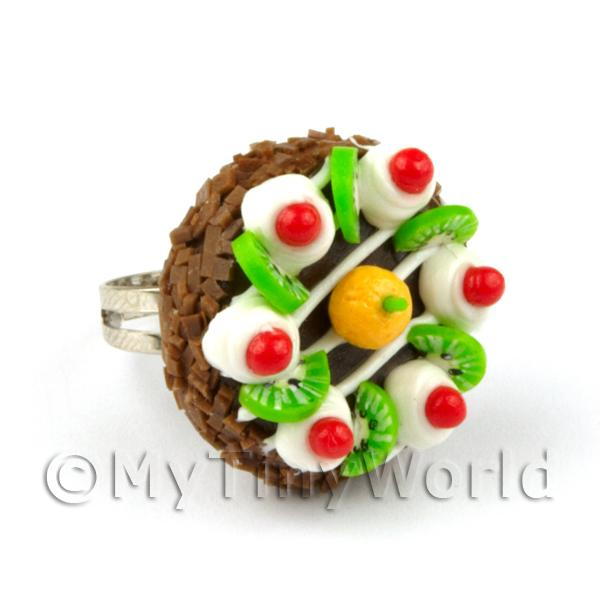 Miniature Handmade Adjustable Chocolate Cake Ring