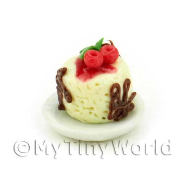 Miniature White Chocolate Mousse With Cherries