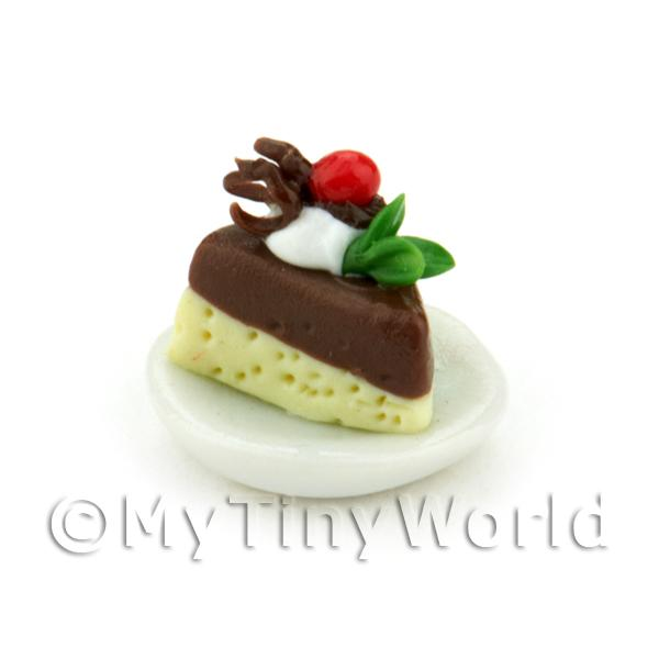 Dolls House Miniature Chocolate Torte Slice