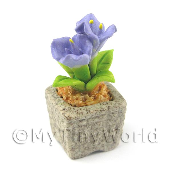 Miniature Handmade Violet Coloured Ceramic Flower (CFV15)