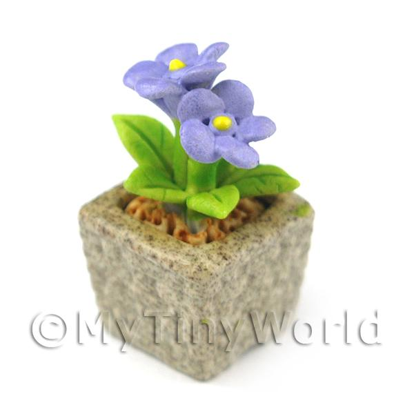 Miniature Handmade Violet Coloured Ceramic Flower (CFV4)