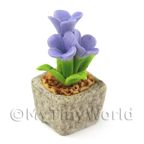 Miniature Handmade Violet Coloured Ceramic Flower (CFV14)
