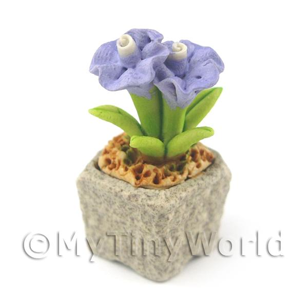 Miniature Handmade Violet Coloured Ceramic Flower (CFV13)