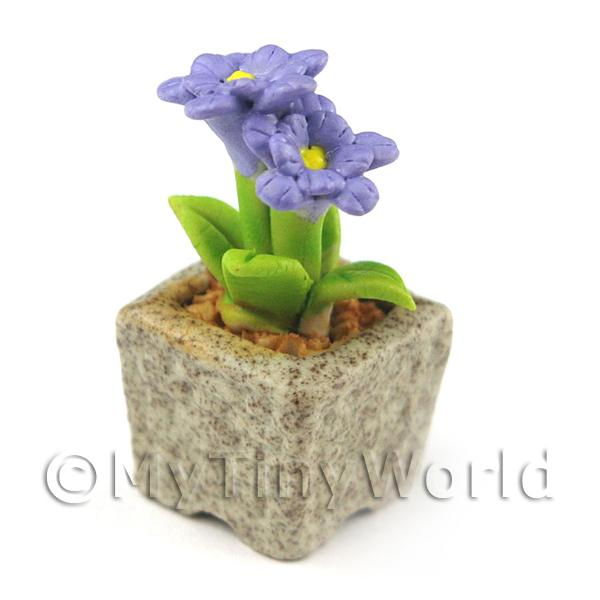 Miniature Handmade Violet Coloured Ceramic Flower (CFV2)
