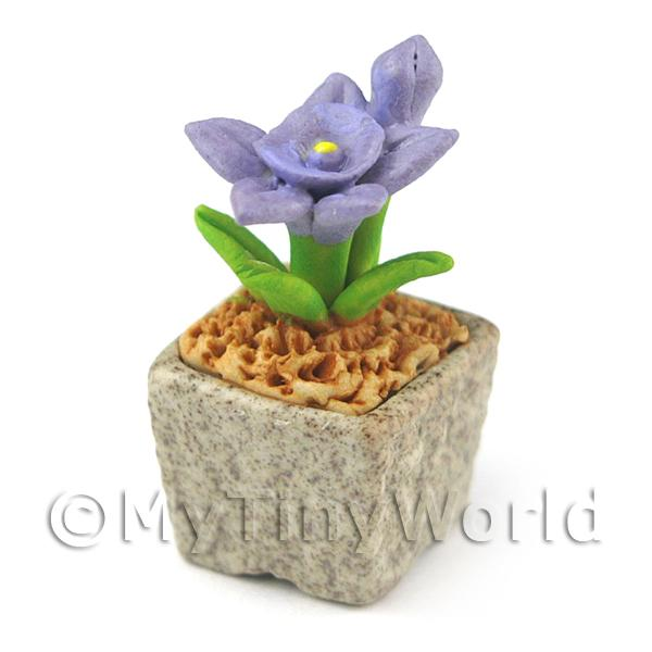 Miniature Handmade Violet Coloured Ceramic Flower (CFV12)