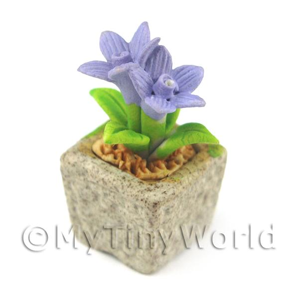 Miniature Handmade Violet Coloured Ceramic Flower (CFV6)
