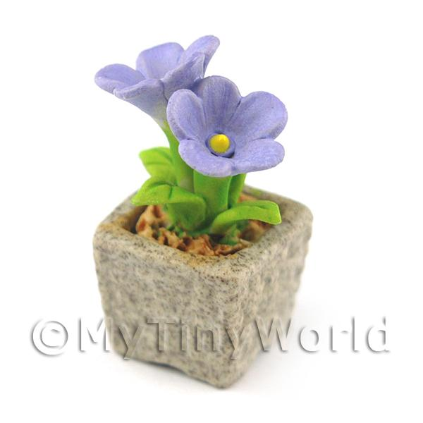 Miniature Handmade Violet Coloured Ceramic Flower (CFV11)