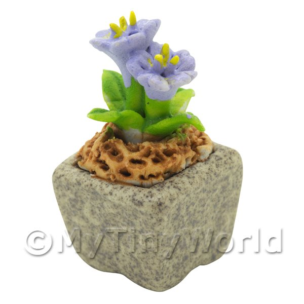 Miniature Handmade Violet Coloured Ceramic Flower (CFV5)