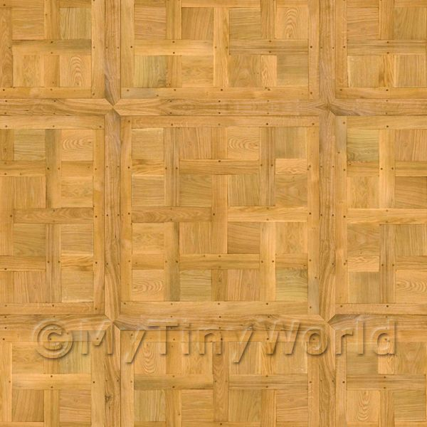Dolls House Chantilly Large Panel Parquet Wood Effect Flooring
