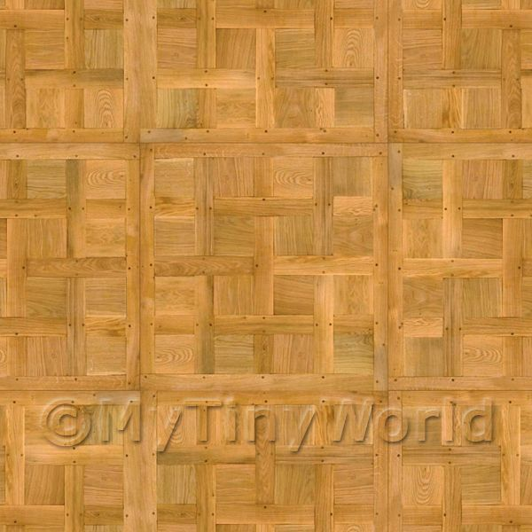 Dolls House Chantilly Large Panel Parquet With Cross Frame Floor