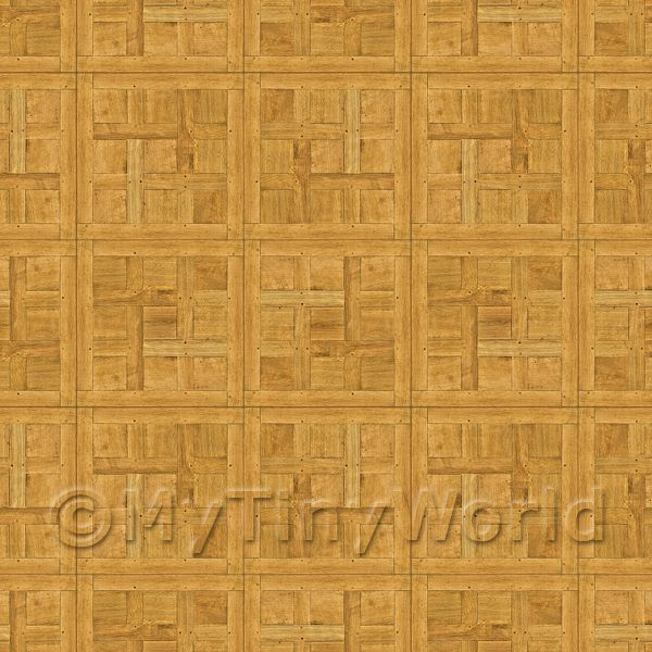 Dolls House Miniature  | Dolls House Chantilly Small Panel Parquet Wood Effect Flooring