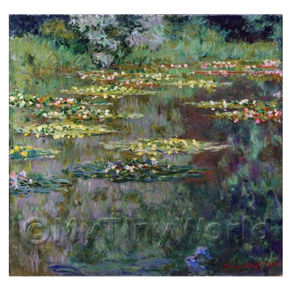 Claude Monet Painting  Water Lily Pond