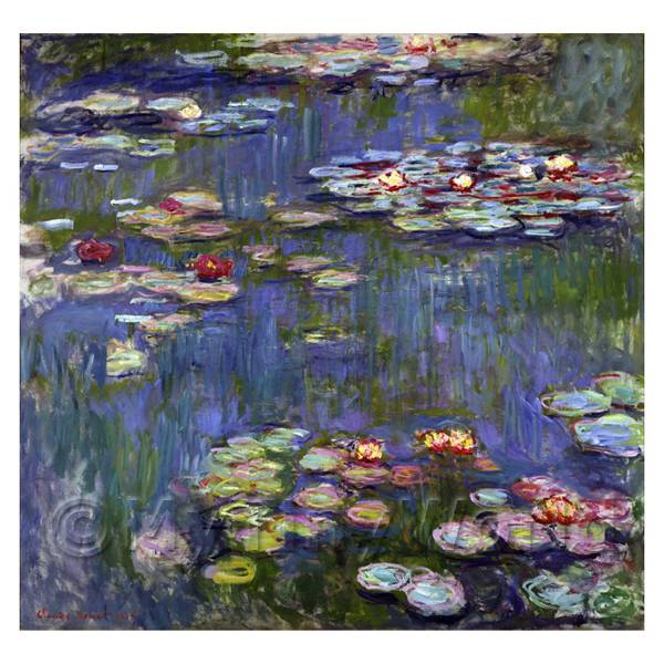 Claude Monet Painting Violet Water Lilies