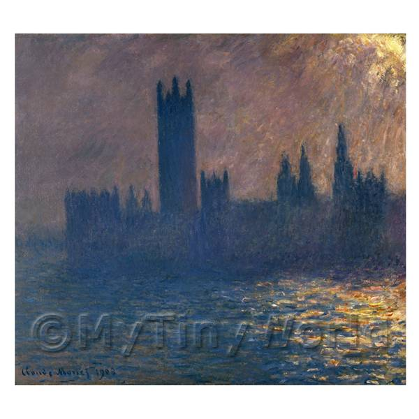 Claude Monet Painting Houses Of Parliament Sunlight Effect