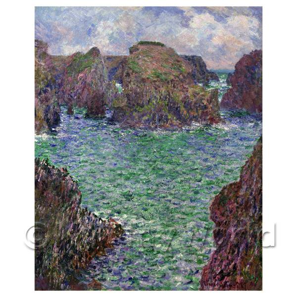 Claude Monet Painting Belle-elle, Port Goulphar