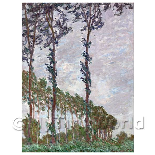 Claude Monet Painting Poplars On The Epte, Wind Effect
