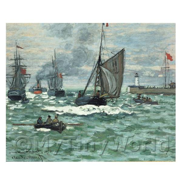 Claude Monet Painting Entrance to the Port Of Honfleur