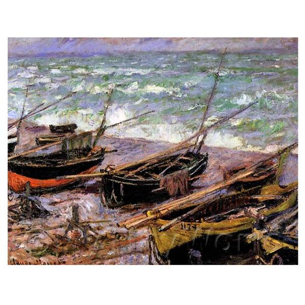 Claude Monet Painting Fishing Boats