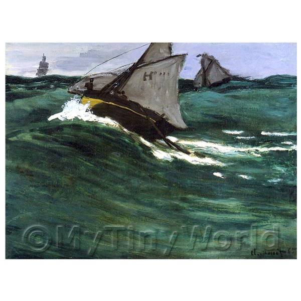 Claude Monet Painting The Green Wave