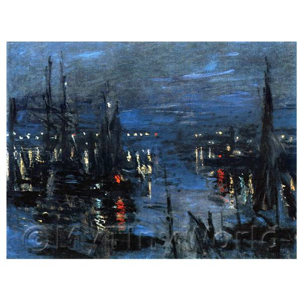 Claude Monet Painting The Port Of Le Harve, Night Effect