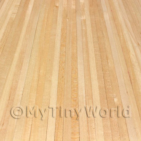 Dolls House Miniature  | Dolls House Miniature Real Pine Strip Floor With Self Adhesive Back