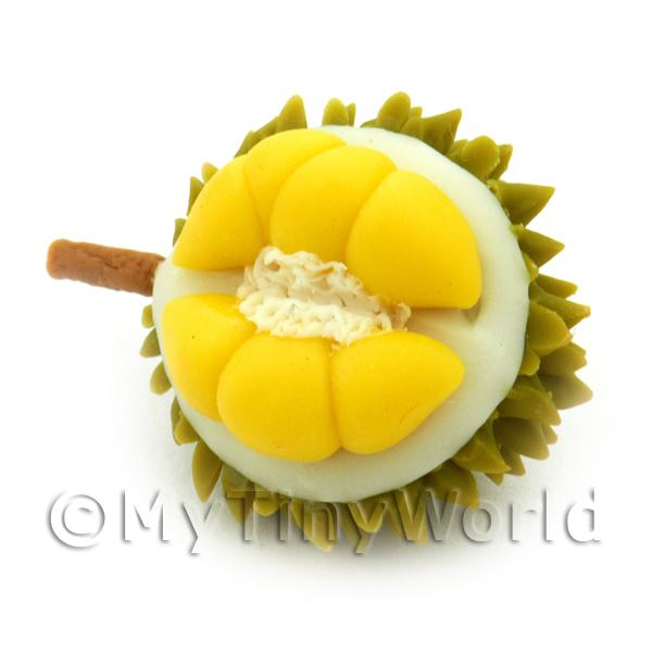 Dolls House Miniature Handmade Open Durian Fruit