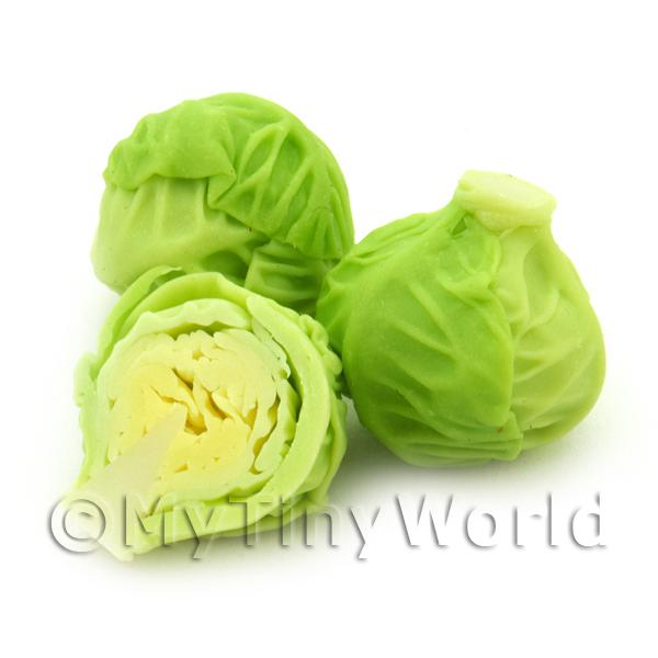 Dolls House Miniature Whole Green Cabbage For Slicing