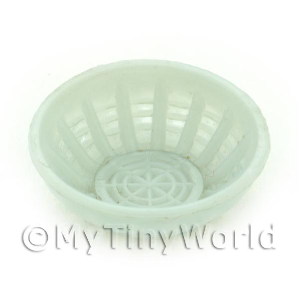 Large White Dolls House Miniature Plastic Bowl
