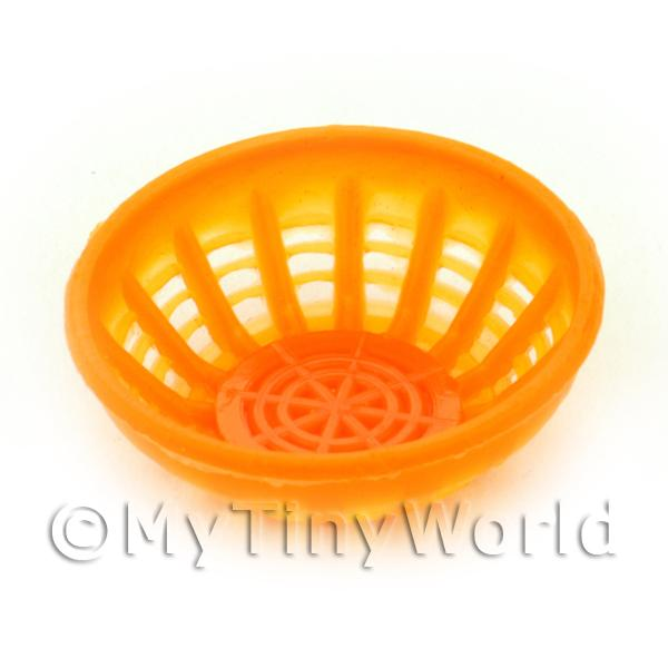 Large Light Orange Dolls House Miniature Plastic Bowl