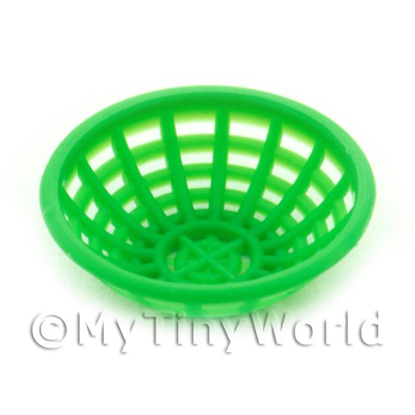 Medium Green Dolls House Miniature Plastic Bowl