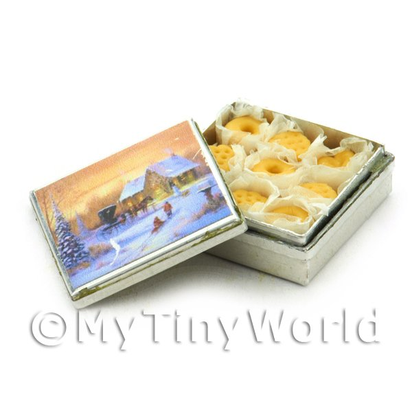 Dolls House Miniature Biscuit Tin And Biscuits Style 1