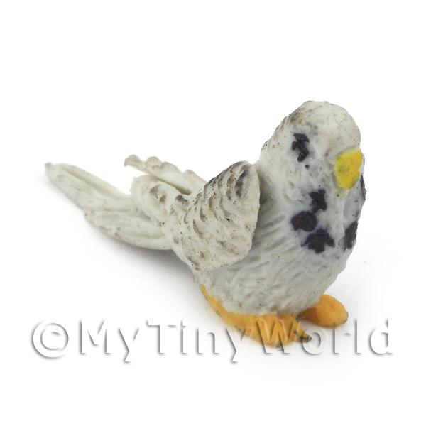 Dolls House Miniature  | Dolls House Miniature Air Dried Clay Grey Budgies