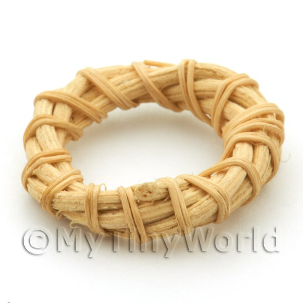 Dolls House Miniature Plain Rattan / Wicker Ring