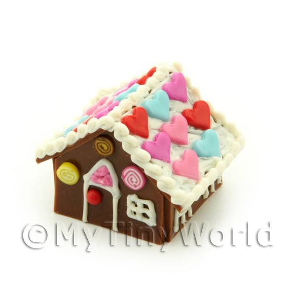 Dolls House Miniature Heart Gingerbread House