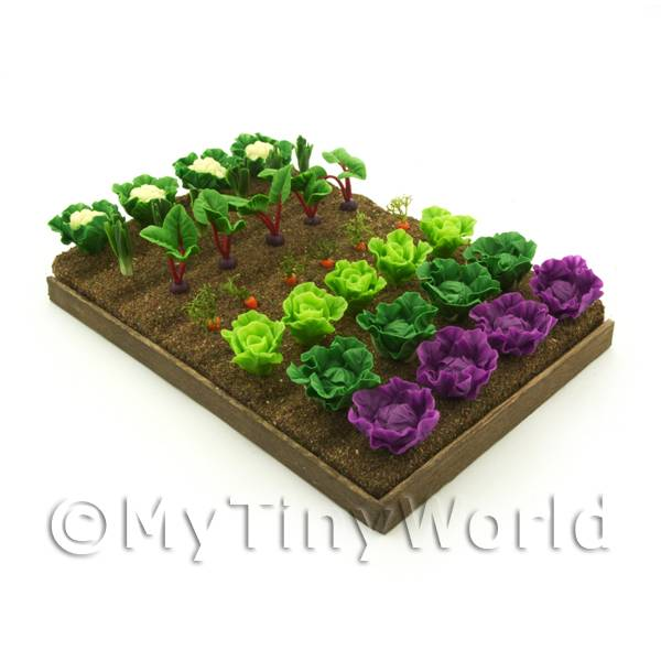 Dolls House Miniature  | 7 Strips of Various Miniature Vegetables For The Allotment