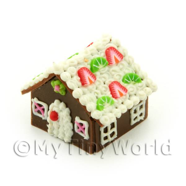 Dolls House Miniature Fruit Slice Gingerbread House