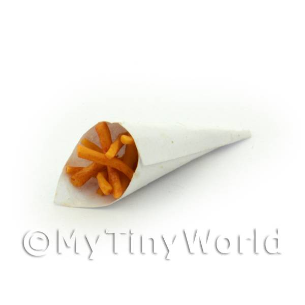 Dolls House Miniature Chips In A Paper Cone