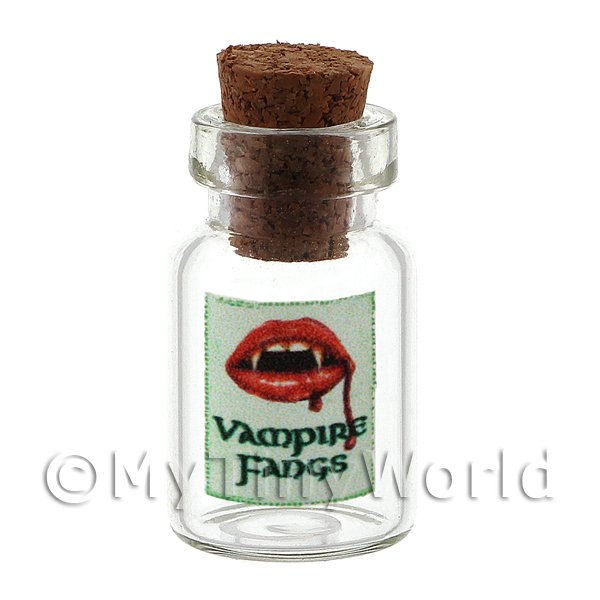 Dolls House Miniature Vampire Fangs Magic Storage Jar