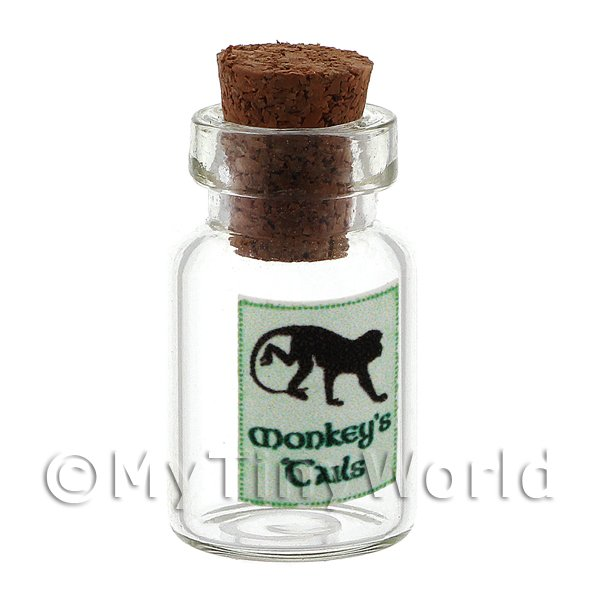 Dolls House Miniature Monkeys Tails Magic Storage Jar