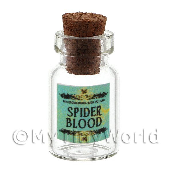 Dolls House Miniature Spider Blood Magic Storage Jar