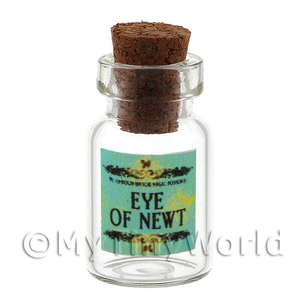 Dolls House Miniature Eye Of Newt Magic Storage Jar (Style 2)