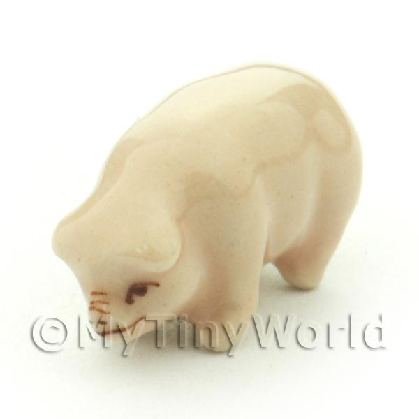 Dolls House Miniature Tiny Ceramic Piglet