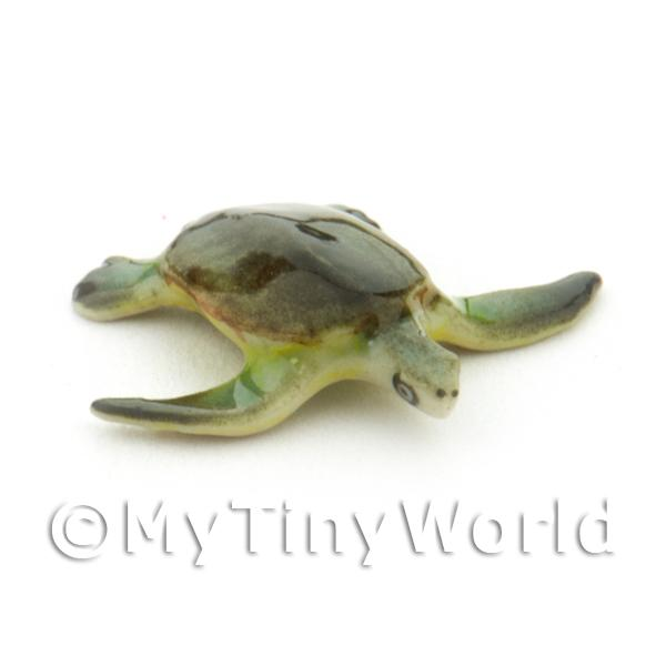 Hand Made Dolls House Miniature Ceramic Turtle