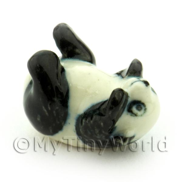Dolls House Miniature Ceramic Rolling Panda