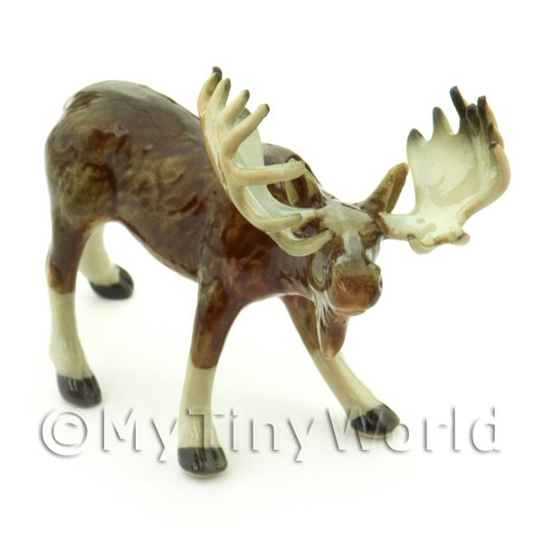 Dolls House Miniature Ceramic Moose Style 2