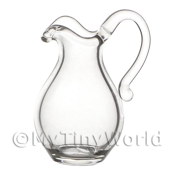 12mm Small Dolls House Miniature Elegant Glass Water Jug