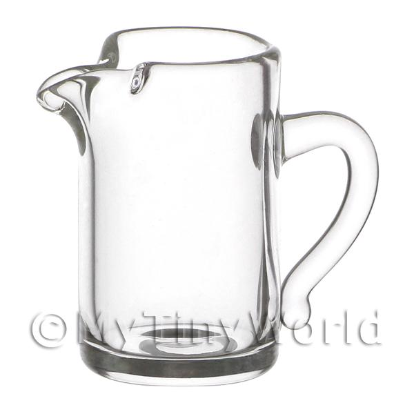 20mm Dolls House Miniature Straight Sided Glass Pitcher