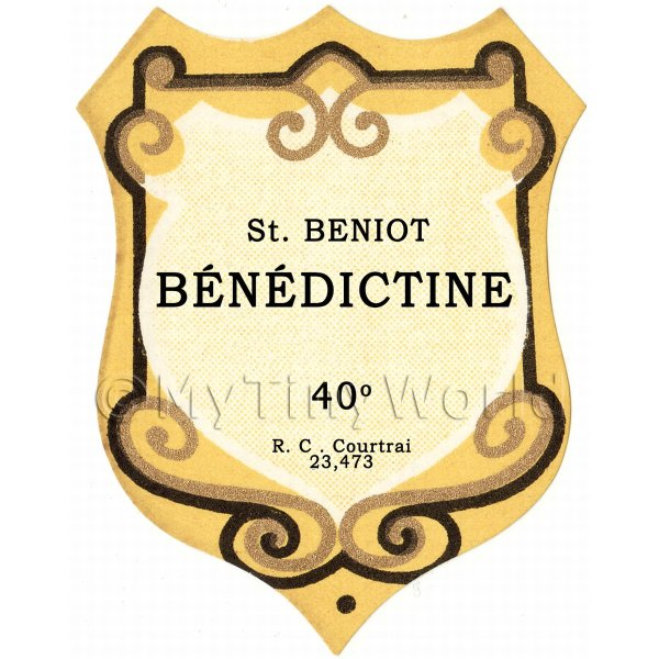 Benoit Benedictine Miniature Dolls House Liqueur Label
